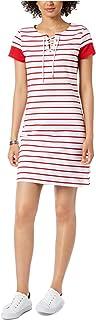 Tommy Hilfiger Women's Striped Lace-Up Dress