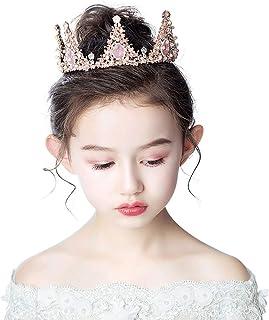 RKY Corona for Bambini, Ragazze Testa Capelli Headwear Silver Flower Ragazze della Fascia Accessori for Capelli Principess...
