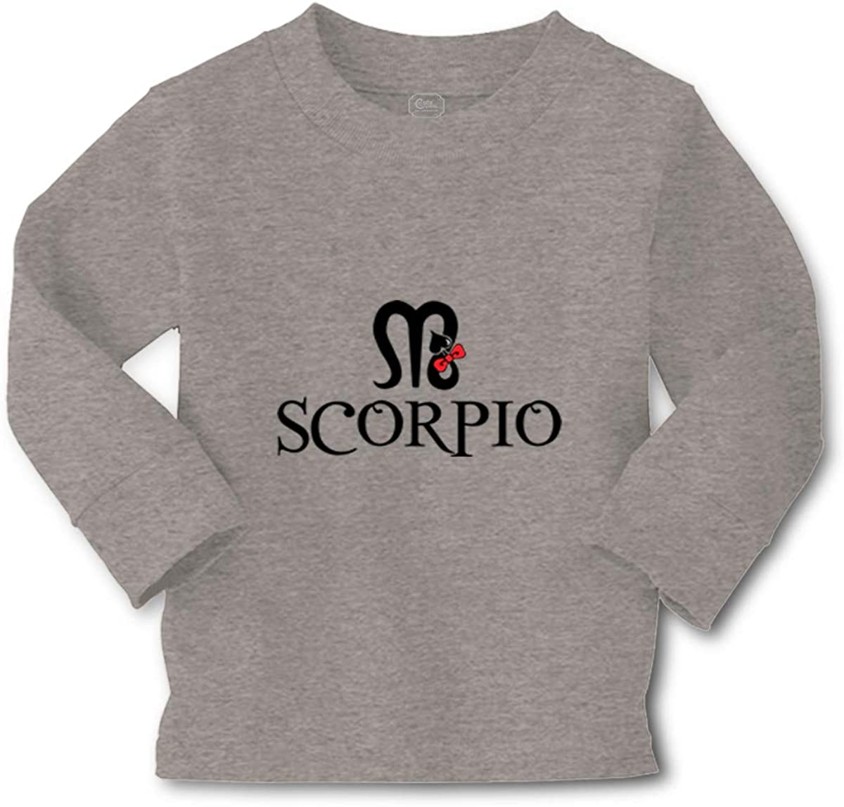 Kids Long Sleeve T Shirt Scorpio Zodiac Sign Cotton Boy & Girl Clothes
