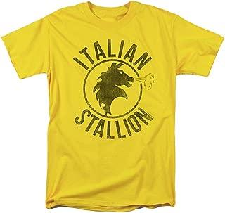 Men's Italian Stallion Horse T-Shirt Yellow