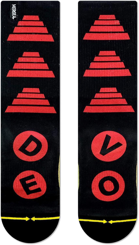 DEVO Band Energy Dome Black and Red Unisex Music Crew Socks