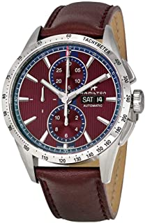 Hamilton Broadway Burgundy Dial Automatic Mens Chronograph Watch H43516871