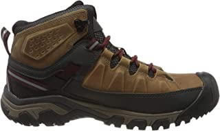 KEEN Men's Targhee III MID WP Hiking Boot, Brindle/Magnet, 17 US