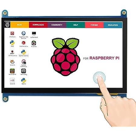 ELECROW 7インチ モバイルモニター Raspberry Pi 用 モバイルディスプレイ LCD ディスプレイ ポータブルモニター 1024*600 HDMI端子 液晶モニター タッチパネルモニター Raspberry Pi 4B 3B+ 3B BB Black Banana Pi Windows 10 8 7対応 ゲームモニター 安心保証1年付き