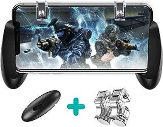 PUBG Mobile 荒野行動 コントローラー 2秒17発 スマホ用 ゲームパッド 押し式金属ボタン 4点セット ネジ式固定 射撃ボタン グリップ 最新 感度良い 高速射撃 iPhone/Android対応 各種ゲーム対応