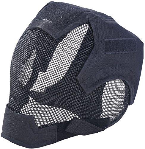 Fansport Mesh Vollgesichtsmaske Schutzmaske Steel Airsoft Maske für Outdoor Spiel