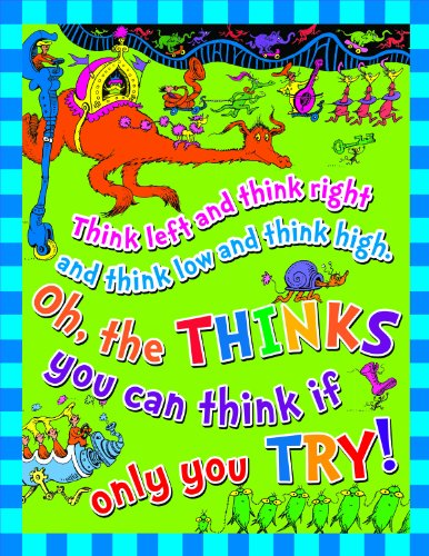Eureka DrSeuss #039Think Left Think Right#039 Classroom Poster 17#039#039 W x 22#039#039 H
