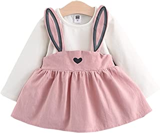 Baby Girls Rabbit Style Long Sleeve Princess Flower Dress