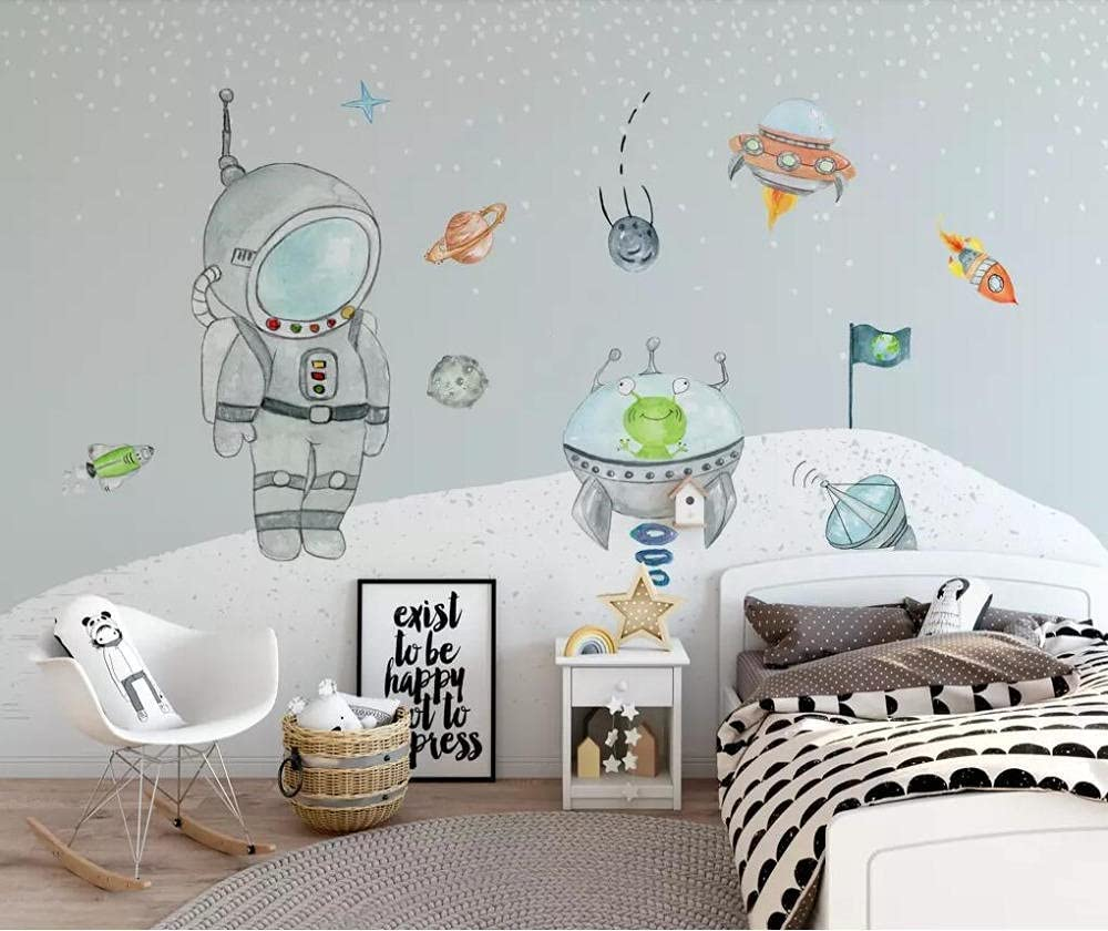 Wallpaper Max 53% OFF Hand Painted Space 2021new shipping free shipping Children's Background Room Pai Wall