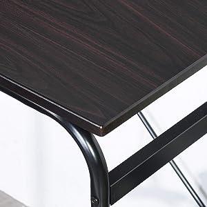 Pupitre Escolar Escritorio Completo con Cesta de Almacenamiento Lateral Diseño Industrial Metal y Madera