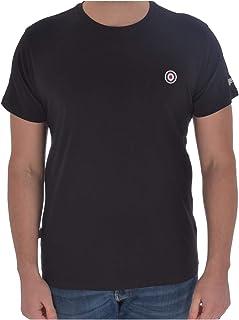 Lambretta Mens Core Target Cotton Short Sleeve T-Shirt Top - Black - 3XL