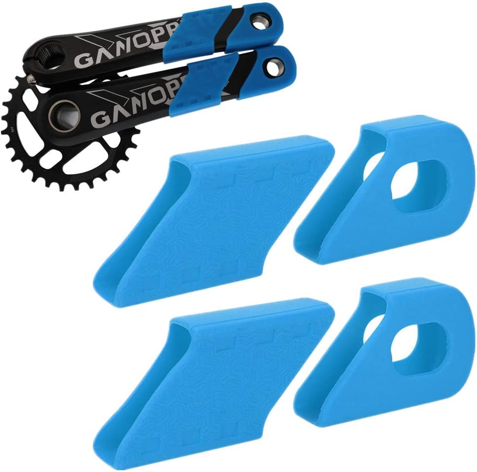 4PCs Bike Boot Crank Cover Crank Armor Silicone Covers Bicycle Crank Protection Sleeve Arm Protector Bike Accessory for Mountain Bike Road Bike
