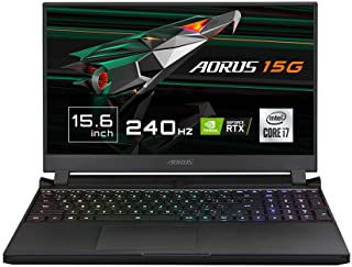 "Gigabyte AORUS 15G XC - Ordenador portátil de 15.6"" FHD 240Hz ( Intel Core i7-10870H, 32GB RAM, 512GB SSD, Nvidia RTX3070G..."