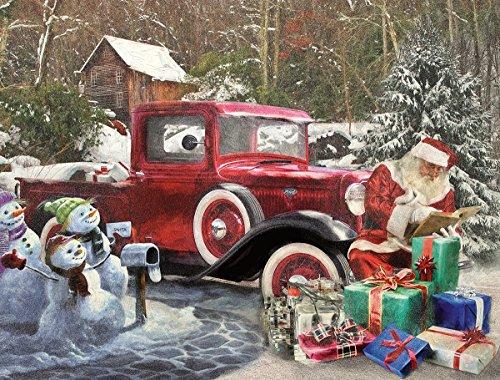 White Mountain Puzzles Santa & Truck - 1000 Piece Jigsaw Puzzle