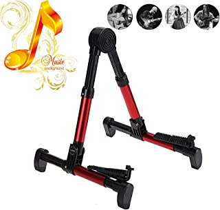 ZBSPM Guitar Stand Folding Aluminum Floor A-Frame Stand Bar Hanger for All Guitars Acoustic Classic Electric Bass Travel Guitar Stand for Music Bands, Recording Studios, Stage Performers