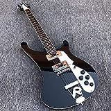 MLKJSYBA Guitarra 6 Cuerdas De Guitarra Eléctrica Guitarra Eléctrica Laca Negra Laca con Incrustaciones De Palisandro Enlaid Guitarras acústicas (Color : Guitar, Size : 41 Inches)