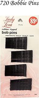 Bulk Buy: Lot of 720 Black Vintage Lady Lora Rubber Tipped Bob Pins