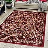 Carpeto Rugs Tapis Salon Orientale Rouge Bordeaux 140 x 200 cm Différentes Tailles Poils Courts
