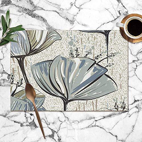 Tommy Warren Manteles Individuales, Tulipanes de Colores sobre Textura Flor Natural Manteles...