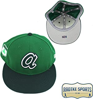 04de26fc588 Dansby Swanson Atlanta Braves Spring Training 2017 Game Used Green Hat