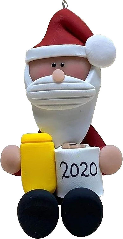 YUWEX Weihnachtsmannpuppe Halten Sie das 2020 Toilettenpapier Weihnachtspuppe Miniatur-Weihnachtsdekoration des alten Mannes Kinderspielzeug