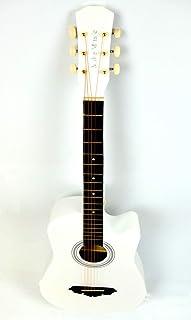 Classical Acoustic Guitar (Elegant White) Cutaway Gitar