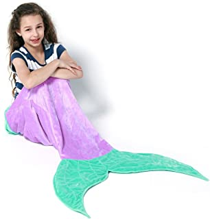 purple mermaid tail blanket for adults
