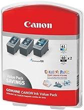 Canon 2 PG-40 + 1 CL-41 Ink Tank Cartridge, Black/Tri-Color (3 pk.)