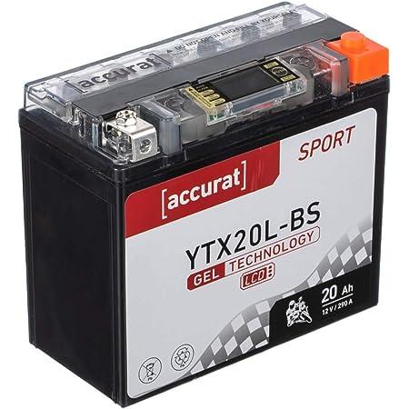 Motorrad Batterie Ytx20l Bs Agm Gel 20ah 12v 290a En Quad Motorradbatterie Ytx20l 4 Harley Fxstc Flst Flstf Auto