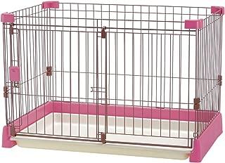 リッチェル ペット用 お掃除簡単サークル 90cm x 60cm ピンク
