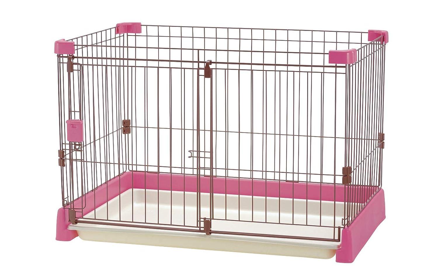 減衰コア同種のリッチェル ペット用 お掃除簡単サークル 90cm x 60cm ピンク