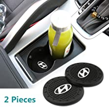Auto Sport 2.75 Inch Diameter Oval Tough Car Logo Vehicle Travel Auto Cup Holder Insert Coaster Can 2 Pcs Pack for Hd Acce...