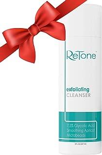 ReTone Keratosis Pilaris Exfoliating Body Cleanser Wash for KP treatment, Body Acne - Gentle Glycolic acid wash to exfoliate and soften rough, bumpy skin.