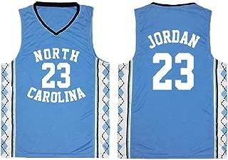 Men's 23 Jersey North Carolina Basketball Jerseys Retro Athletics Jersey Blue and White(S-XXL)