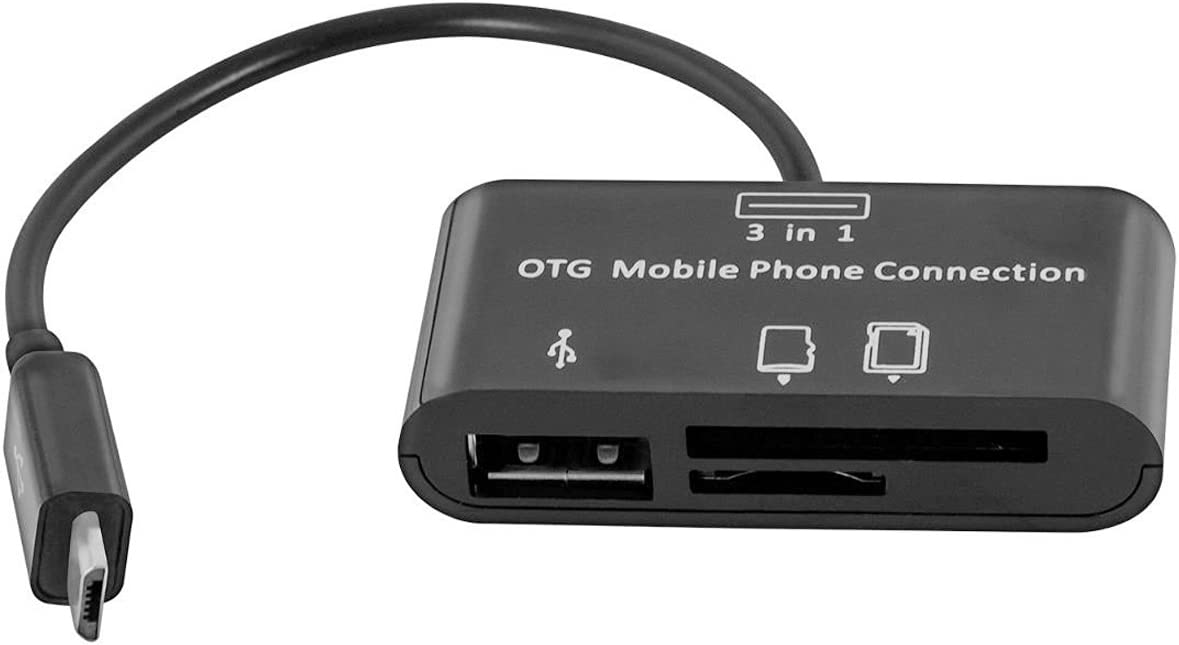MXTECHNIC 3 in 1 Micro USB OTG Camer Host Reader Factory Don't miss the campaign outlet Adapter Card SD