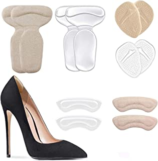 Heel Cushion Inserts - Metatarsal Pads & Heel Cushion Pads & Reusable Soft Shoe Inserts Self-Adhesive Foot Care Protector Grips Liners for Womens - Heel Pain Relief Bunion Callus Blisters- 6 Pairs