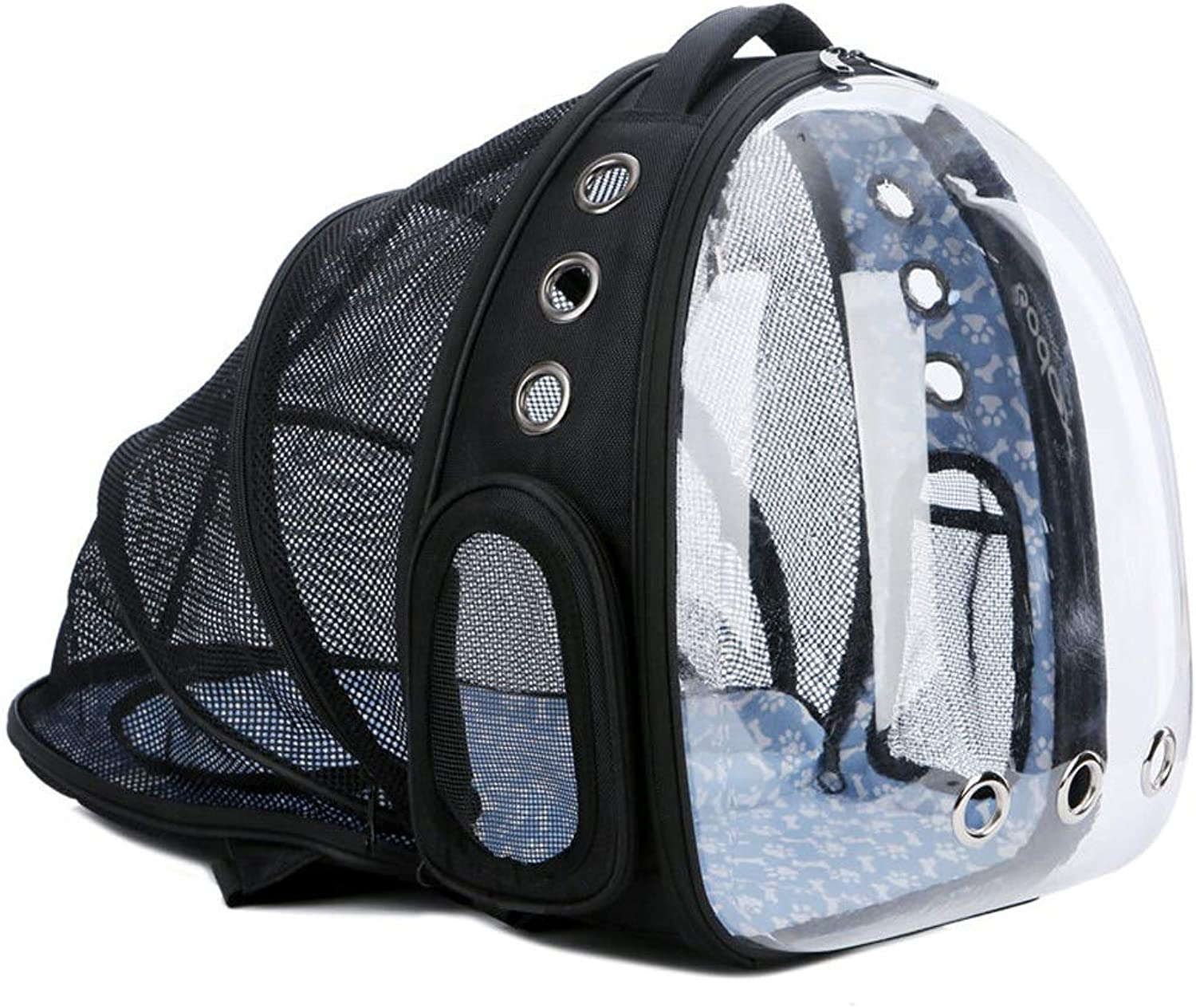 High Capacity Portable Pet Cats Carrier Transparent Capsule Breathable Cats Bag Outdoor Travel Dog Cats Backpack Puppy Carrying Cage 38  28  42cm