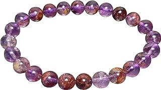 Aldomin Natural Energized Purple Super Seven Gemstone Healing Crystal Bracelet (Bead Size :- 7 to 7.5 MM)