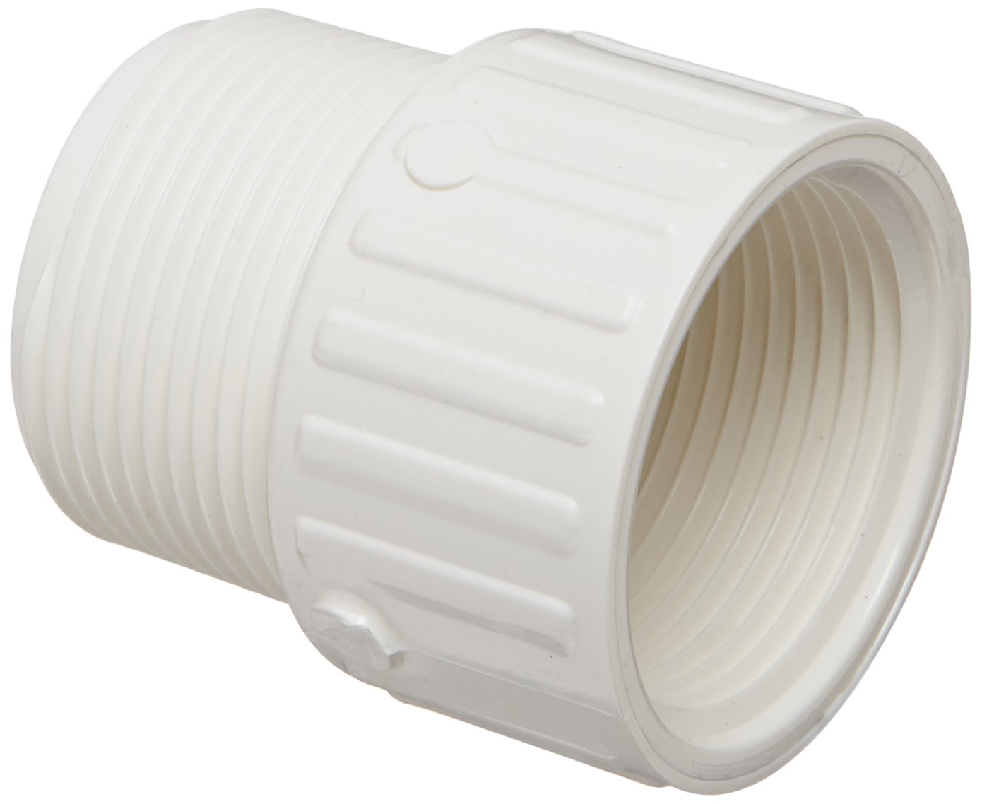 Adapter Schedule 40 3//8 NPT Male x 1//2 NPT Female Spears 446 Series PVC Pipe Fitting