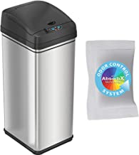 iTouchless 13 Gallon Pet-Proof Sensor Trash Can with AbsorbX Odor Filter Kitchen Garbage Bin Prevents Dogs & Cats Getting ...