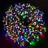 Luci Natale Esterno 1000LED 100M, GlobaLink Luci Albero di Natale IP44 Impermeabile, Luci LED a Forma Diamante, 8 Modalità Luce Decorazioni Natalizie, Patio, Giardino, Matrimonio con Bobina, 50 Flange