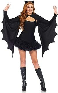 Leegleri Bat Wing Halloween Women Costume,Bat Shrug Adult Costume with Headband