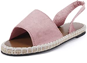 POPLY Sandals for Women,Summer Retro Women'S Flat Ankle Strap Roman Slippers Sandals Ladies Beach Shoes UK Size 4-8