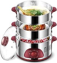 XJJZS Acier Inoxydable Steamer Électrique Alimentation, Vapeur Légumes 3 LayersVegetable Vapeur, Rapide Chauffage Inoxydable