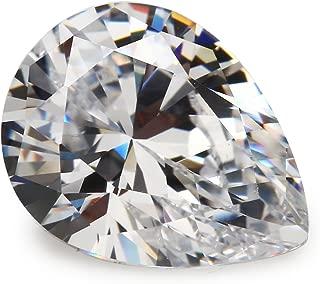 50PCS Size 5x7mm 5A Pear Shape Machine Cut White Color Cubic Zirconia Stone Loose CZ Stones JIANGYUANGEMS (5x7mm 50pcs)