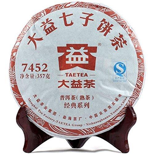 本場中国雲南省産の健康プーアル茶 大益七子餅茶7452 2019年(熟茶) 357g
