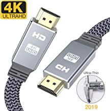 4K HDMI cable 2m, Snowkids 2019 Newest HDMI 2.0 Cable Ultra high speed flat hdmi to hdmi 18Gbps 4K@60Hz fit Fire TV, 4k TV,3D, Ethernet,Video return UHD 3860p, HD 1080p,arc Xbox PlayStation/PS3/PS4