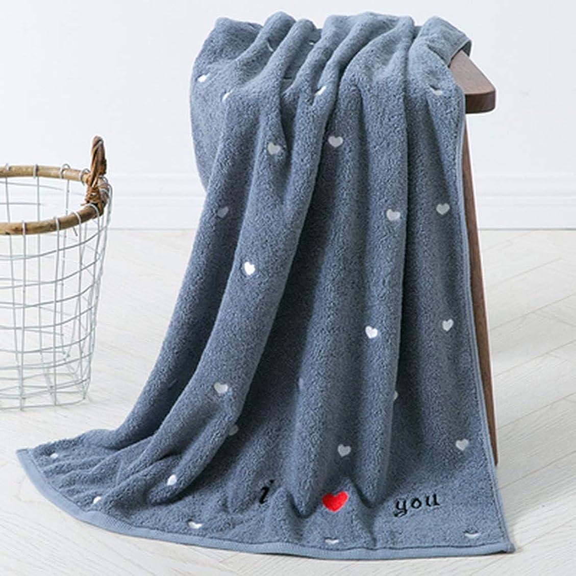 聴覚画家タールSGLI 綿のバスタオルのカップル柔らかい綿の大きなバスタオル吸収性の大きなタオル水泳用タオル バスタオル (Color : Gray)