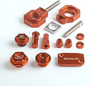 Mojo MOJO-KTM-BK2 Anodized Orange CNC Billet Bling Kit