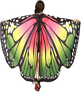 Women Adults Butterfly Wings Shawl Scarves Prop Nymph Pixie Costume Accessory